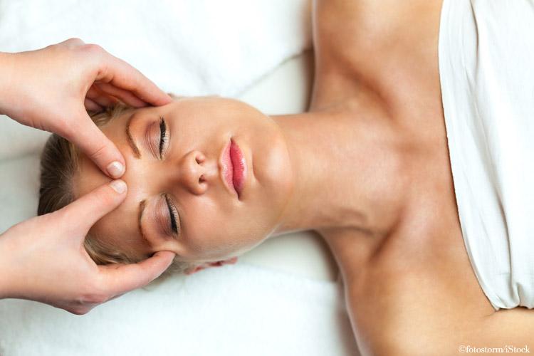 stirn massage gesicht