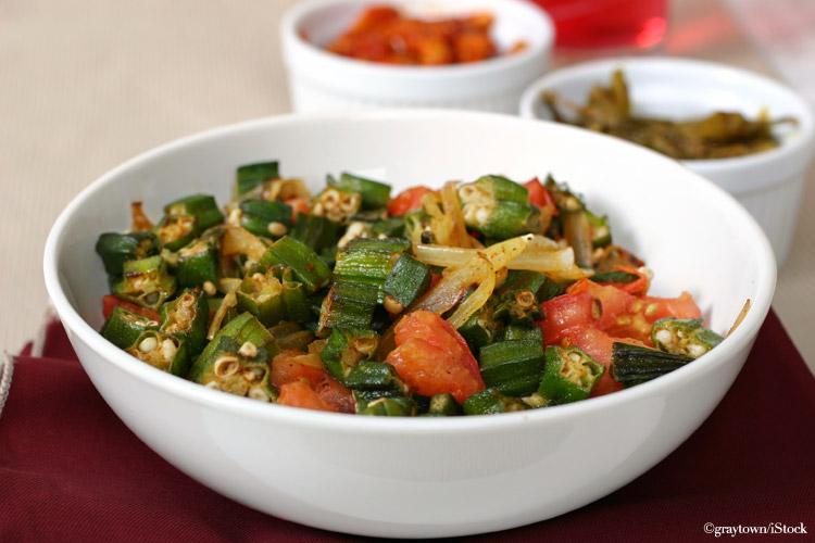 okra salat