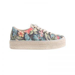 Sneakerdrilles mit Blumen