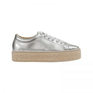Silberne Sneakerdrilles