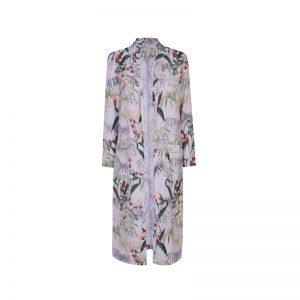 Langer Kimono mit Blumen