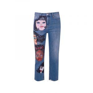Jeans mit Prints