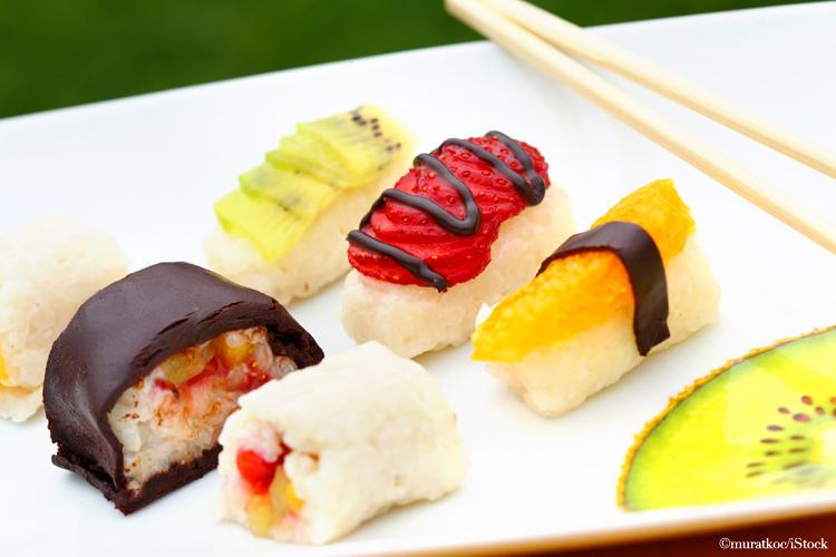 suess sushi nachtisch