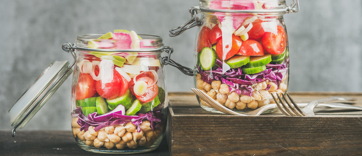 Food-Trend Layered Lunch