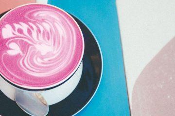 pitaya latte pink