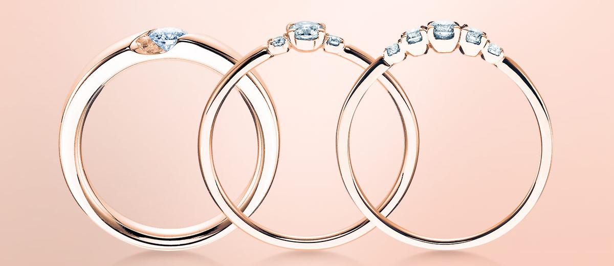 rosegold schmuck verlobungsringe