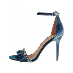 Blaue Samt Sandale
