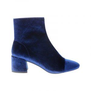 Blaue Samt-Stiefelette