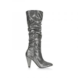 Silberne Slouchy-boots