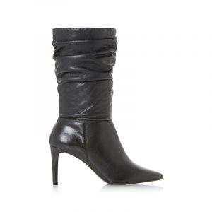 Schwarze Slouch-Boots