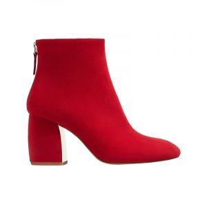 Rote Stiefelette