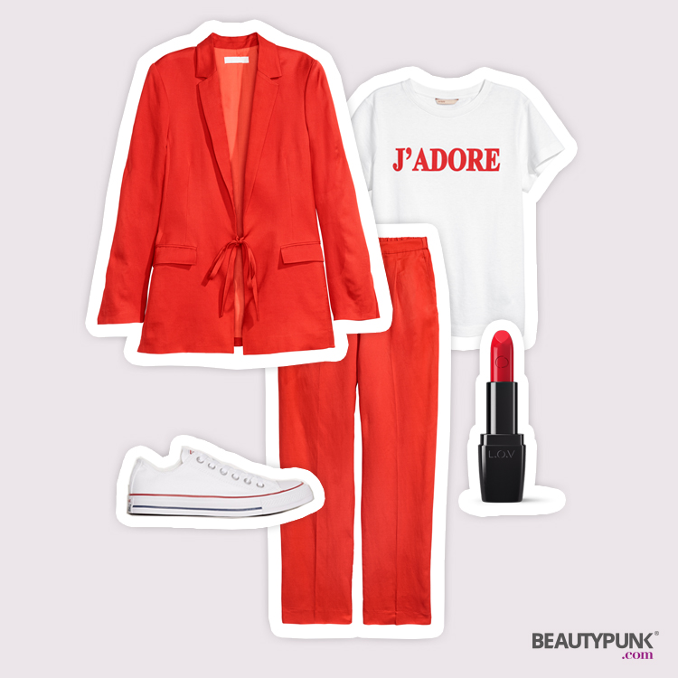 Stylingtipp rotes Outfit