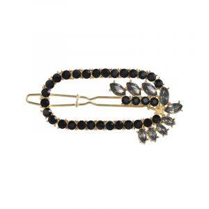Haarspange mit schwarzen Strasssteinen