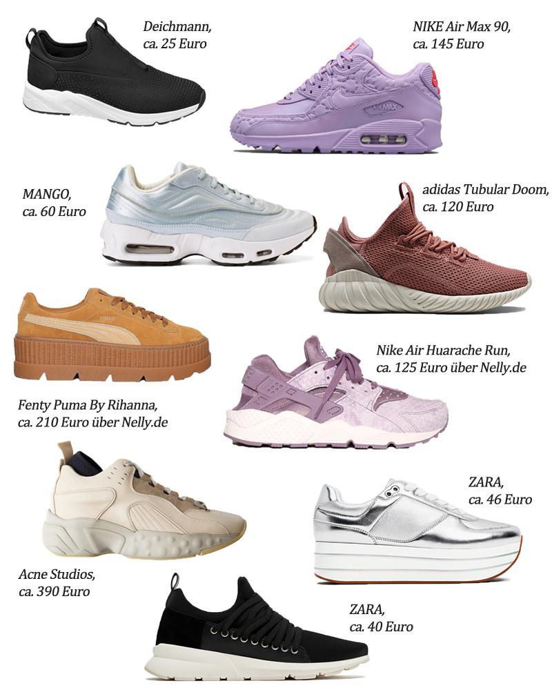 90er Jahre Sneaker Trend