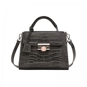 Schwarze Kroko-Tasche