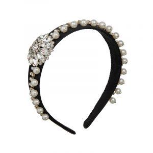 Haarreifen mit Perlen