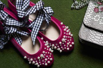 Ballerinas mit Perlen