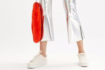 Metallic Pants im Trend