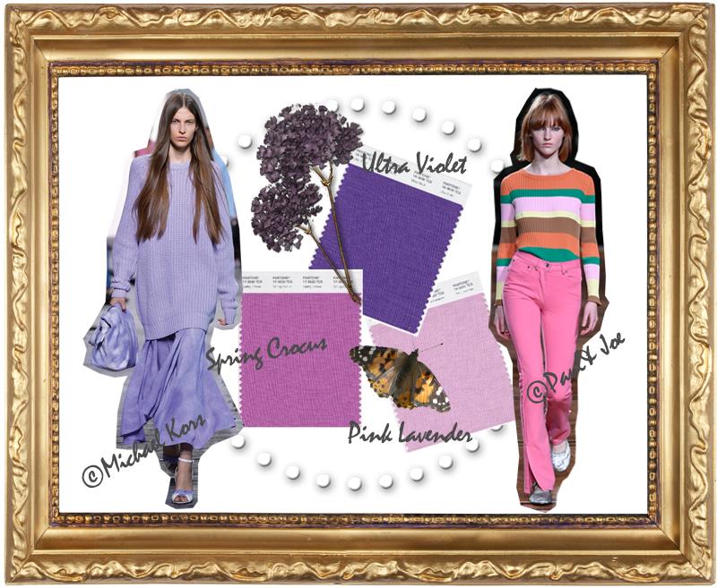 Trendfarben Violett