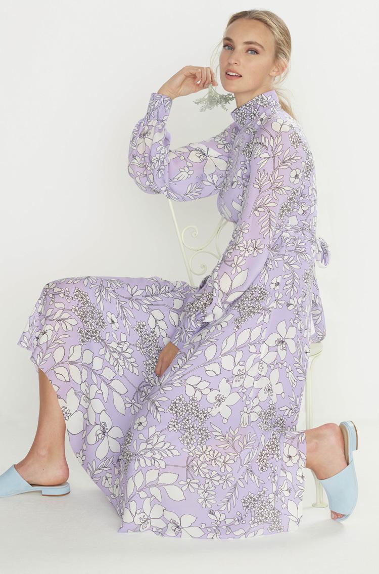 Kleid in Flieder