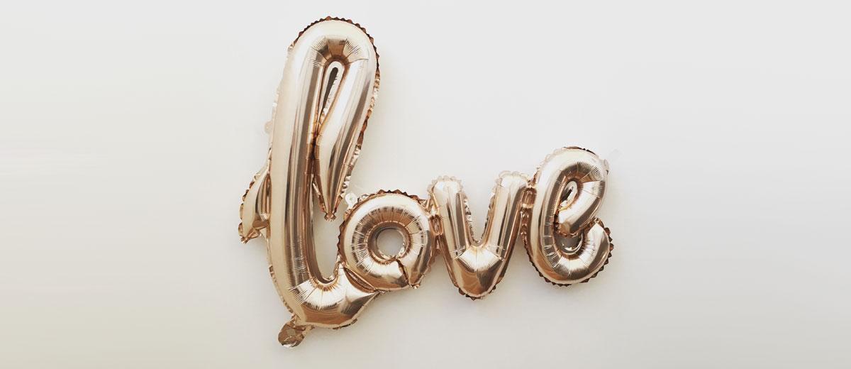 folienluftballon love