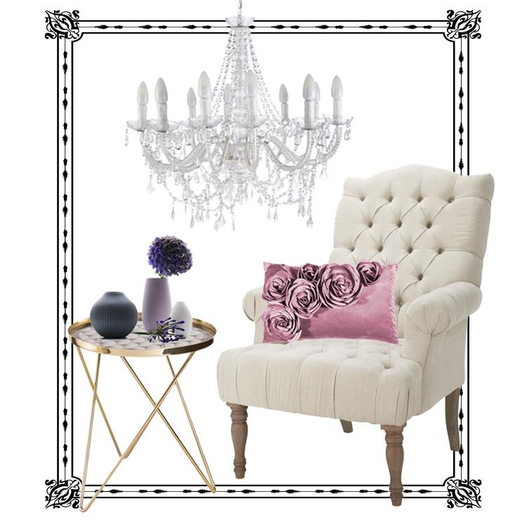 wohnzimmer glamour style