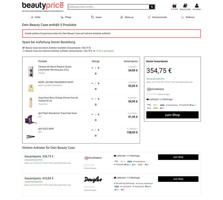 screenshot beautyprice warenkorb
