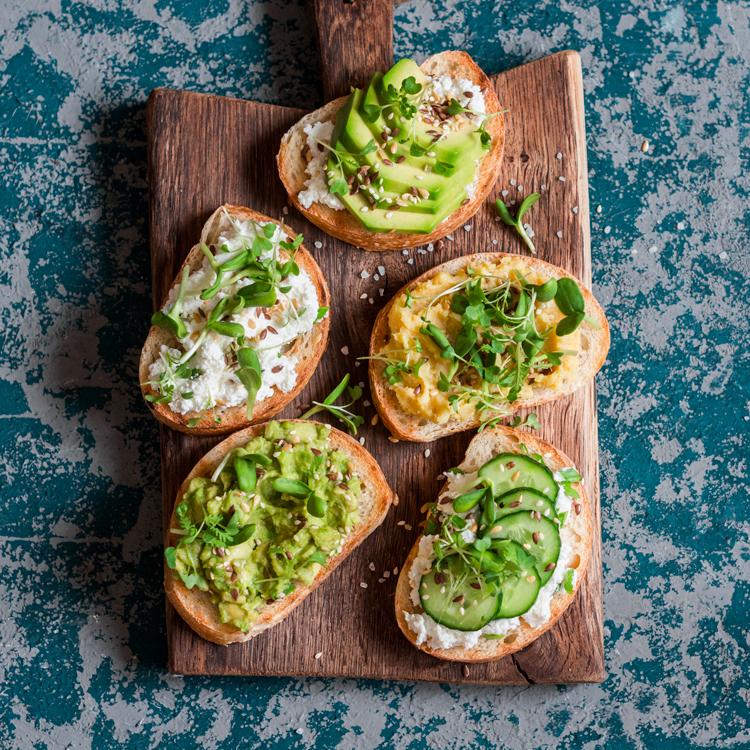 toast microgreens