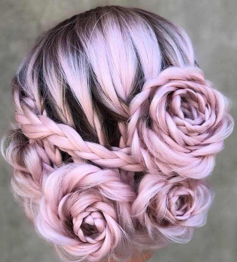 braidedandblonde rose braid