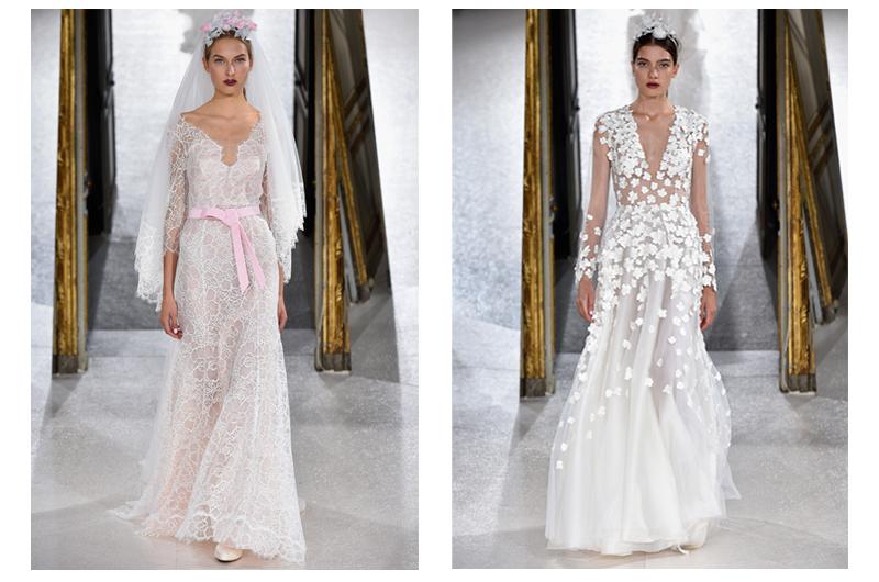 Transparente Brautkleider mit Spitze