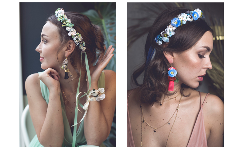 Blumenkränze für die Haare