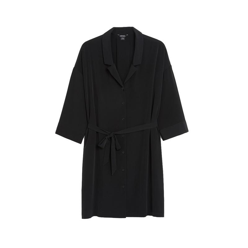 monki blusenkleid schwarz