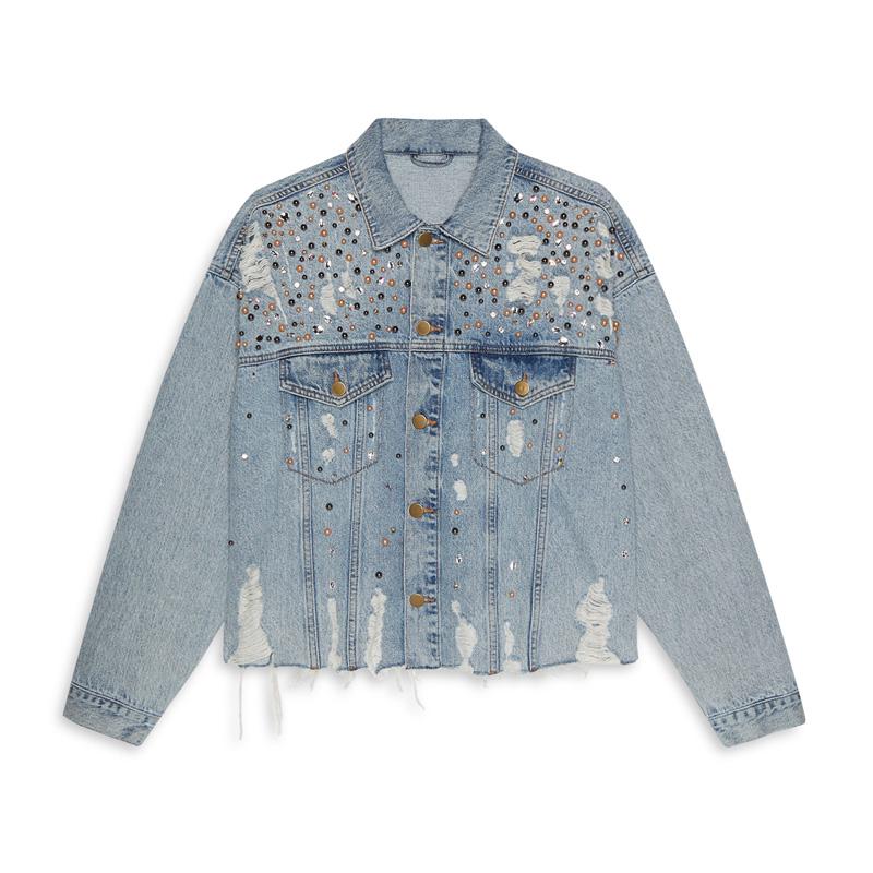 Jeansjacken das sind die neuen must haves beautypunk - Jeansjacke perlen ...