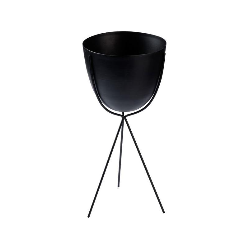 erstings family blumentopf schwarz minimalismus