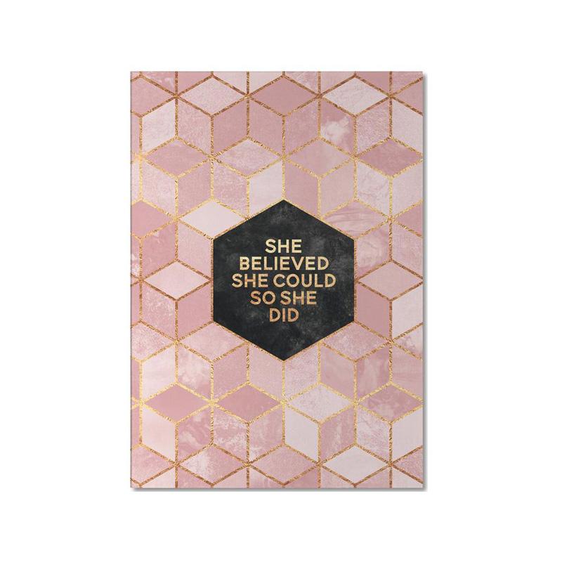 junique notizbuch rosa