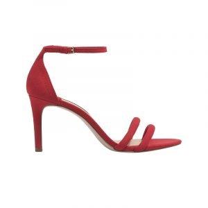 Rote Riemchen-Sandalette