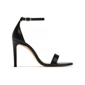 Schwarze Riemchen-Sandalen