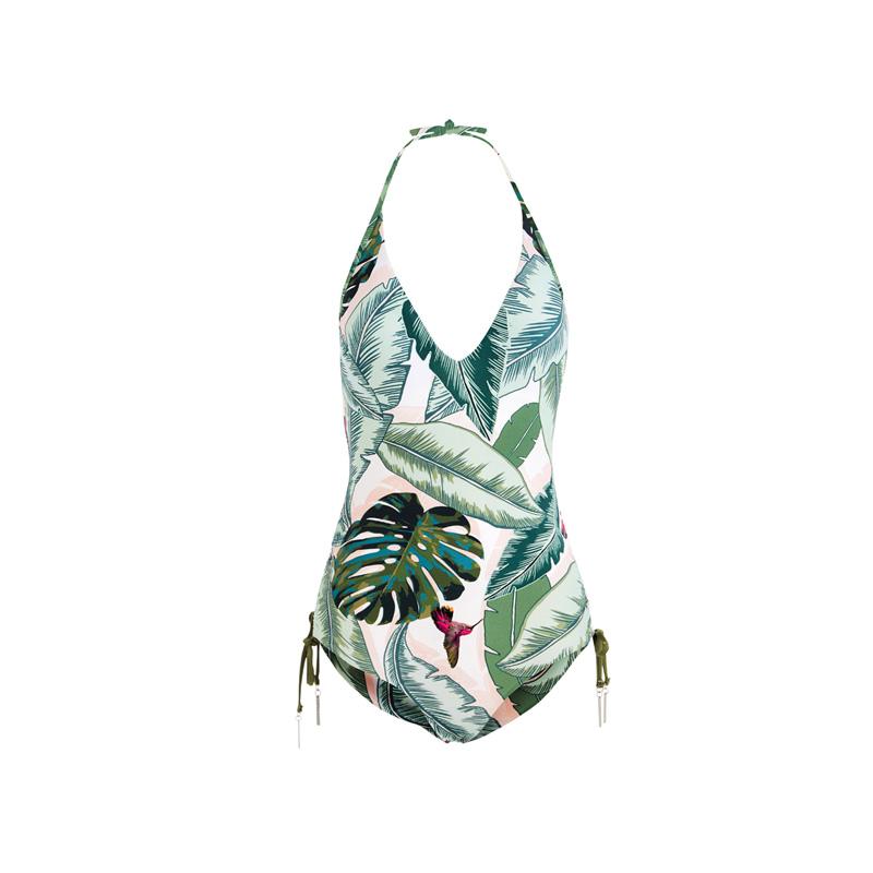 seafolly badeanzug palmen neckholder