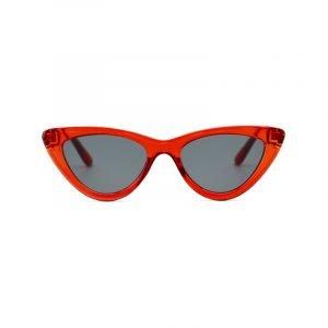 Rote Cat-Eye Sonnenbrille