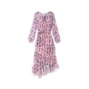 Rosa Kleid im Granny-Style