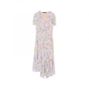 Vintage-Kleid mit Blumen