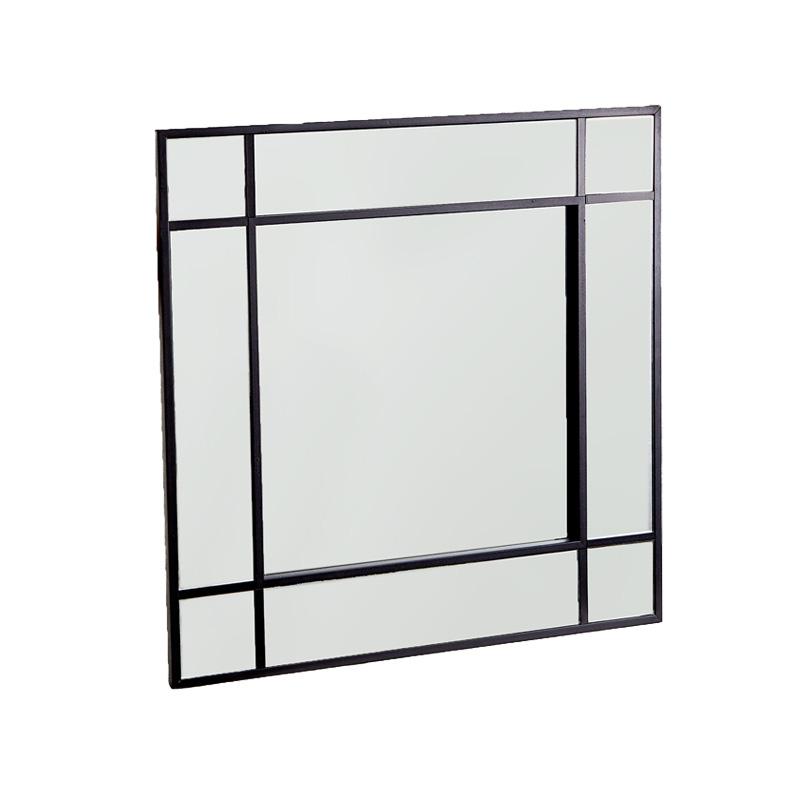zara home spiegel schwarz quadrat