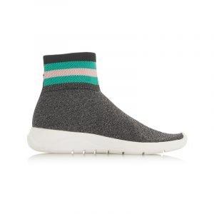 Graue High Top Sneaker