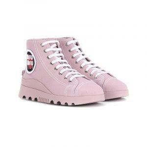 High-Top Sneaker in Rosa
