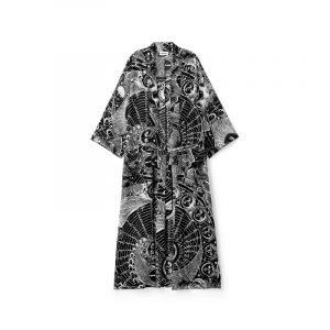 Kimono in Schwarz-weiß