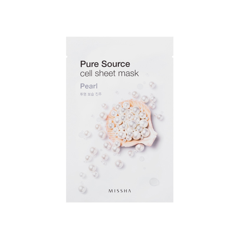 missha pure source sheet mask mit perlenextrakt