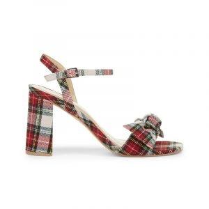 Sandale mit Tartan Muster