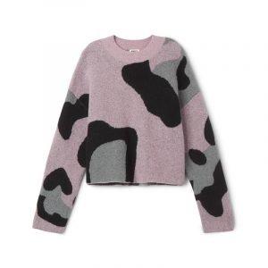 Pullover mit Leo-Print