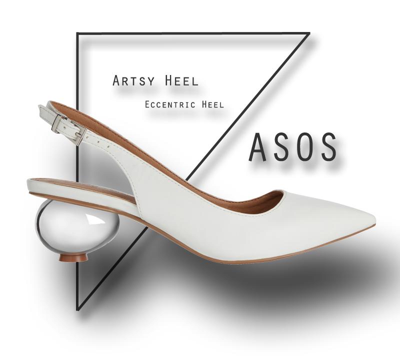 Weiße Artsy Heels