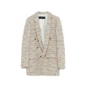 Tweed Blazer in Beige